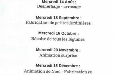 animations jardin 2019
