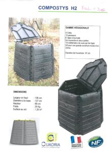 COMPOSTYS H2 - 800L - 30€